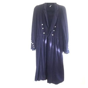 FREE PEOPLE MILITARY DUSTER.